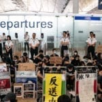 HONG KONG AIRPORT DISRUPTED FOR SECOND DAY DUE TO PROTESTS