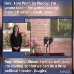 """HOT MIC: DEMOCRAT REP ADMITS TO GOV. TOM WOLF MASKS """"POLITICAL THEATER"""" WORN FOR """"ON-CAMERA"""" APPEARANCE"""