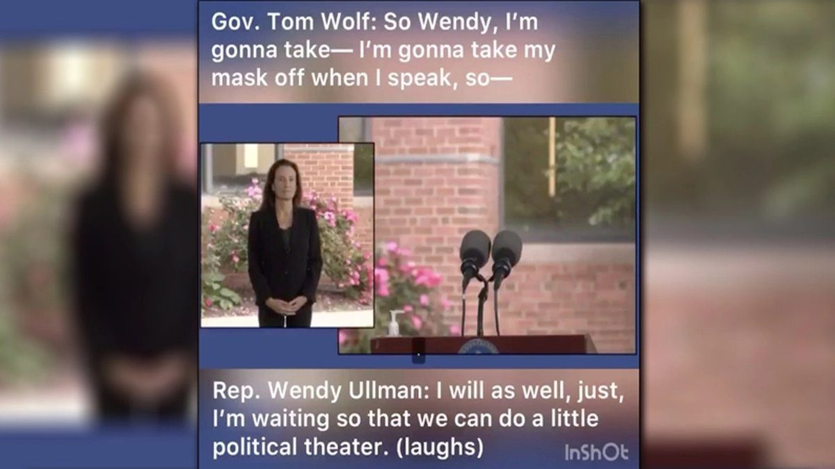 "A hot mic captured the moment a Pennsylvania House rep admitted to the state's governor Tom Wolf that face masks are only being worn for the camera as ""political theater."" In video footage of the Tuesday press conference, Gov. Wolf can be overheard addressing Democrat District 143 Rep. Wendy Ullman off-camera, coordinating the move to take their masks off while they speak on the microphone."